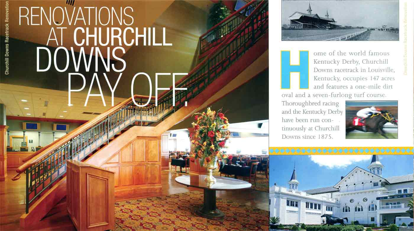 Churchill Downs renovations featuring New England Classic wainscot and panels