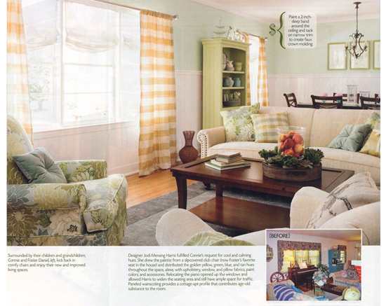 mantels and wainscott featured in creative home magazine