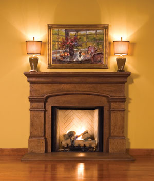 Index of images images cast mantelsnew for Dark fireplace mantel