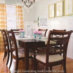 elegant dining room with white wainscot