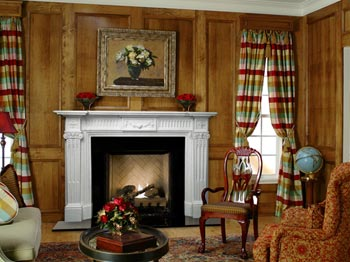 beautiful solid wood paneling can make any room feel palatial